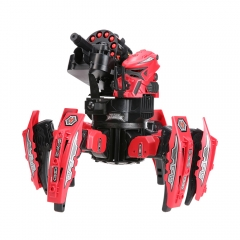2.4G Smart RC Robot Intelligent Space Armor Warriors Six-legged Spider Robot DIY Frisbee - Red